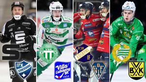 Christoffer Edlund, Martin Landström, Tuomas Määttä och Adam Gilljam. Foto: Jonna Igeland / Oliver Åbonde / TT.