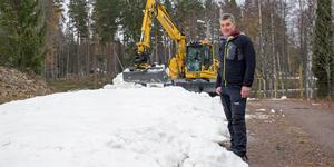 Torbjörn Hägglund en tidigare skidsäsong när pay-and-ski preparerades på Högbo Bruk. Bild: Anders Eklind