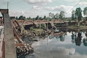 Den gamla bron över Västerdalälven nära Järna kyrka. Foto: Backa Erik Eriksson