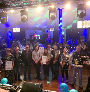 Årets pristagare 2019 på Företagsfesten i Hedemora Folkets hus. Foto: Företagarna
