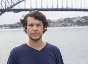 Gustav Sjöholm befinner sig i Sydney, där röken ligger tät från de många bränderna som rasar i delstaten. Foto: Johan Sundberg/TT