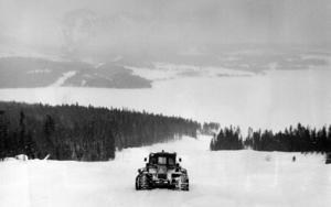 1981 började man röja för vad som skulle bli Landsombergets skidbacke. men ännu 1985 fanns ännu ingen lift i backen. Åkarna drogs uppför backen med snövessla.