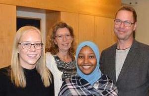 Carolina Gustavsson, Lena Reyier (C), Lul Ahmed och Torbjörn Forsberg diskuterade ungas framtidsutsikter vid seminariet. Foto: Bild: Kajsa Thorp Backlund.