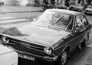 En hyfsat ny Audi med Wedén på passagerarplats. Foto: Lasse Halvarsson