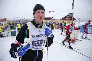 Fredrik Wiklund, IK Jarl Rättvik, kom på plats 2600 av herrarna i Vasaloppet. Tiden var 6.22.35.