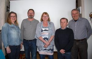 Gruppen bakom boken: Maria Walraven, Curt-Olof Rask, Marianne Helgesson, Christer Bergström och Lennart Zetterberg.