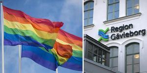 Liberalerna vill se pridflaggan vaja hos regionen. Bildmontage: GD.se