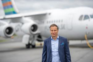Christian Clemens , vd för inrikesflygbolaget BRA. Bild: Pressbild