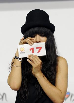 Loreen har startnummer 17 i kväll.