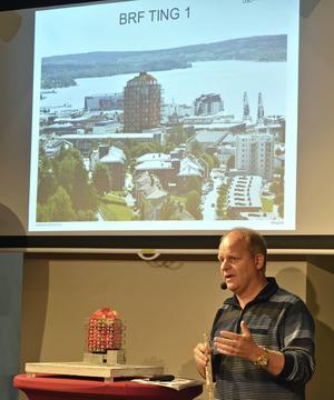 Bostadsrättsföreningen Ting1 i Örnsköldsvik är Nicklas Nybergs mest spektakulära bygge.