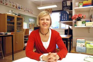 Bírgitta Hörnström är specialpedagog. Hon och hennes kollegor försöker att redan i förskoleklass fånga upp elever som behöver extra stöd.