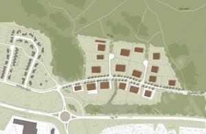 Här kan man se planen för det nya området. Bilden från Mora kommun.
