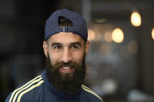 Jimmy Durmaz, svensk högerytter i fotbollslandslaget. Foto: Maja Suslin/TT