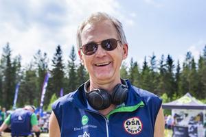 Tävlingsledaren Kaj Hoof hade allting under kontroll.