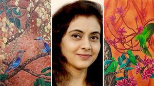 Den indiska konstnären Vani Chawla ställer ut på Galleri Skeppsta hytta.