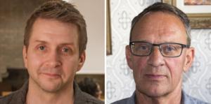 Marino Wallsten (S), kommunstyrelsens ordförande och  Jan Johansson (M), kommunstyrelsens vice ordförande.