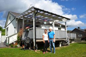 När Maj-Lis och Arne Björk köpte huset på Prästgatan i Timrå hade de ingen aning om att det var byggt på en järnåldersgrav.