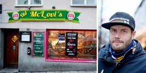 """Varje fredag kl 18.00 från och med den 18/1 kan du kombinera krogbesöket med en film. """"Vi ska köpa in en popcornmaskin, för att få den rätta biografkänslan"""", säger Erik Stromberg, en av initiativtagarna. Bild: Mattias Holgersson och Stefan Lindström."""
