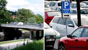 Lars Holmgren (L) kritiserar majoriteten i Sundsvall för att försvåra för bilister som vill parkera i centrum. I och med bygget av en ny bro över Selångersån och det planerade hotellet på Norrmalm försvinner ett stort antal p-platser. Bilder: Caroline Gyllenkrok / Mårten Englin