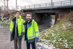 Projektingenjör  Gabriel Bustad och projektledare Fredrik Karlsson sa att  en av satsningar som planeras  på bangården i Krylbo är att de två vägportar som finns söder om bangården ska ersättas med nya och där höjden höjs från 3,2 meter till 4,5 meter.