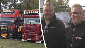 Anders Sundin och Lars-Olof Magnusson, arrangörer av lastbilsträffen i Ramsele.