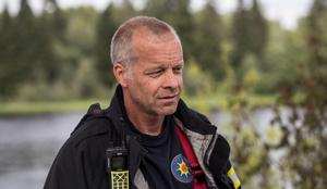 Räddningsledare Mats Hurtig var på platsen och informerade om händelsen.