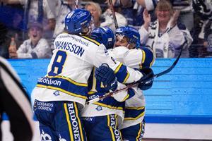 Leksand vann och har inlett säsongen med att vinna de två första hemmamatcherna. Nu väntar HV71 borta på lördag innan ett klassikerderby mot Brynäs på tisdag. Foto: Daniel Eriksson/Bildbyrån.