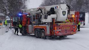 Foto: Läsarbild.Räddningstjänsten var snabbt på plats.