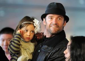 Hugh Jackman med sin dotter Ava.