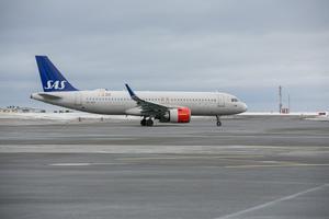 Under måndagen inställdes två flygningar till Östersund, samt två flygningar från Östersund. Arkivbild från Åre Östersund flygplats på Frösön.