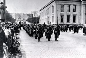 OSLO 9 april 1940. Tyska trupper intar Oslo efter angreppet på Norge den 9 April 1940.Foto: Norska krigsarkivet/TT