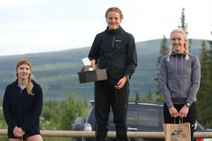 Damklassen vanns av Karolina Hedenström, Östersunds SOK, före Julia och Johanna Albertsson, båda Stugun.