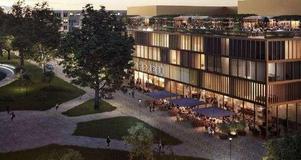 Så här är det tänkt att hotellet på den nuvarande Norrmalmsparkeringen ska se ut. Bild: Arkitektbyrån Krook & Tjäder