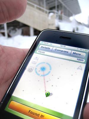 Med ett litet gratisprogram och en gps går det snabbt att ta ut riktning och avstånd.