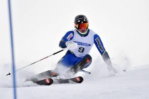 Max-Gordon Sundqvist, ÖFS, trea i fredagens slalom.