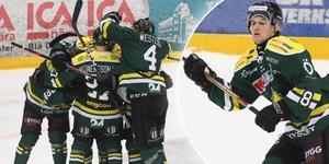 Erik Rainersson behövde inte lång tid på sig för att göra sitt första mål i ÖIK-tröjan. Bild: Niclas Åkerström.