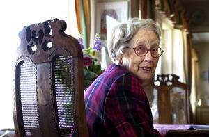 Ingrid Segerstedt-Wiberg avled 2011, hon blev 99 år. Foto: Anders Wiklund/TT