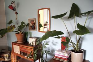 Eleonore Lundkvist har inrett nästan hela sitt radhus med retrodetaljer.
