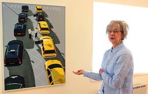 Bia Hellström berättar om sina målning