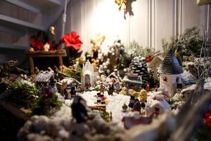 Ulla Berg kallar sin julkrubba för
