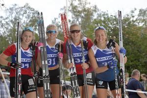 Idresprinten, damer topp fyra: Elina Franzén, Borås, fyra, Maja Dahalqvist, Falun-Borlänge etta, Maria Nordström, Borås tvåaa och Emma Björklund, Mora, etta.