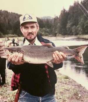 Björn Bäck fiskade lax i Alaska.