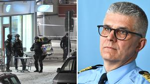 Rikspolischef Anders Thornberg oroas över att  utvecklingen med allt fler dödsskjutningar även kan bli ett stort framtida problem för Region Nord.