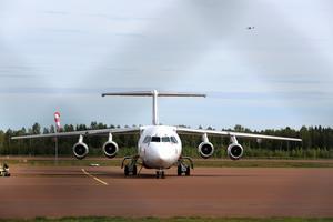 Kommunledningen i Mora kämpar för att behålla mellanlandningen på flyglinjen  Arlanda - Sveg.Arkivbild.