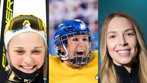 Stina Nilsson, Elin Lundberg och Sofia Mabergs – OS-trion från Malung. Foto: Bildbyrån (Montage).
