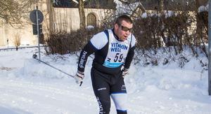 Teklink AB vann Engelbrektsstafetten 2019. Nicklas Johansson (bilden) åkte andra sträckan när laget låg på andraplats.