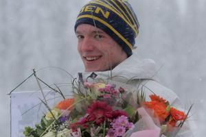 Sebastian Samuelsson blev utsedd till årets skidskytt säsongen 2014/2015.Foto: Tomas Frånlund