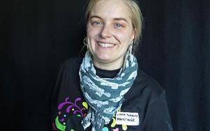 Linnéa Risinger, en av arrangörerna till Falu Pride. Det är andra året de har festivalen i Falun. Foto: Curt Kvicker
