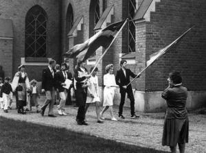 Pampigt värre var det vid skolavslutningen i Stugun 1983.