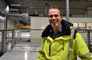 Christian Olhans gläds åt de miljövinter den nya anläggningen innebär.